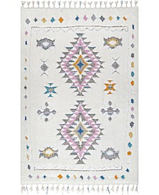 Loft Transitional Shag Isadora White 4' x 6' Area Rug