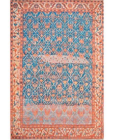 """Collina Transitional Mairead Blue 6'7"""" x 9' Area Rug"""