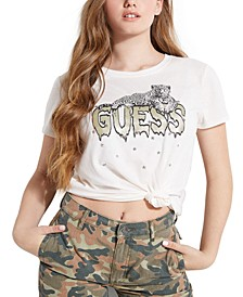 Leopard Drip Graphic T-Shirt