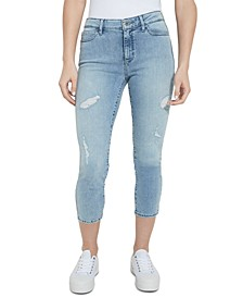 1981 Crop Distressed Skinny Jeans