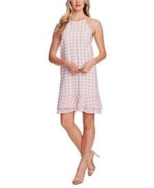 Ruffled Gingham-Plaid Dress