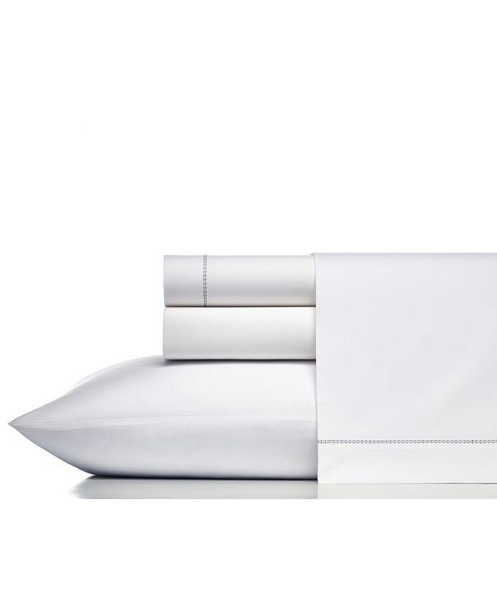 Vera Wang - Solid Cotton Percale Queen Sheet Set