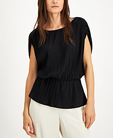 Alfani Ruched-Waist Top, Created for Macy's
