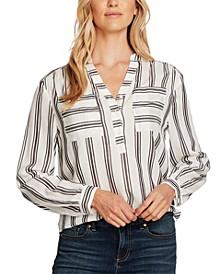 Striped Popover Blouse