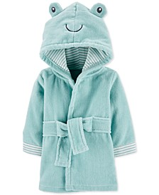 Baby Boy or Girl Hooded Cotton Frog Bathrobe