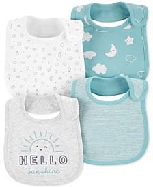 Baby 4-Pk. Cotton Clouds Bibs