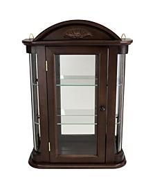Rosedale Hardwood Wall Curio Cabinet