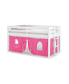 Jasper Twin Junior Loft Bed, Frame and Bottom Playhouse Tent