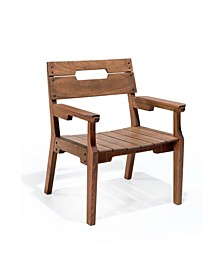 Otero Eucalyptus Wood Outdoor Dining Arm Chair