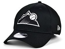 Colorado Rockies   Clubhouse Black White 39THIRTY Cap