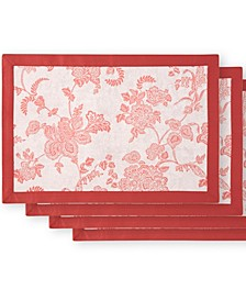 Marquis by Camlin Rose/White Placemat Set of 4