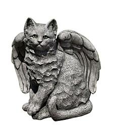 Angel Kitty Garden Statue