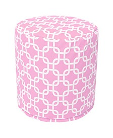 """Links Ottoman Round Pouf with Removable Cover 16"""" x 17"""""""