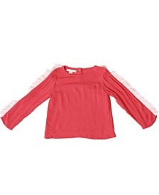 Toddler Girls Long Sleeve Chiffon Ruffle Top