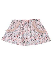 Toddler Girls Floral Fringe Pull on Skirt