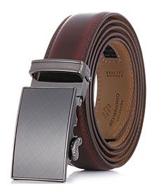 Men's Charcoal Depiction Ratchet Belt