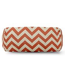 "Chevron Decorative Round Bolster Pillow 18.5"" x 8"""