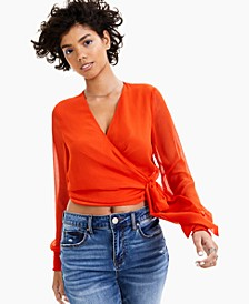 Crinkle Wrap Top, Created for Macy's