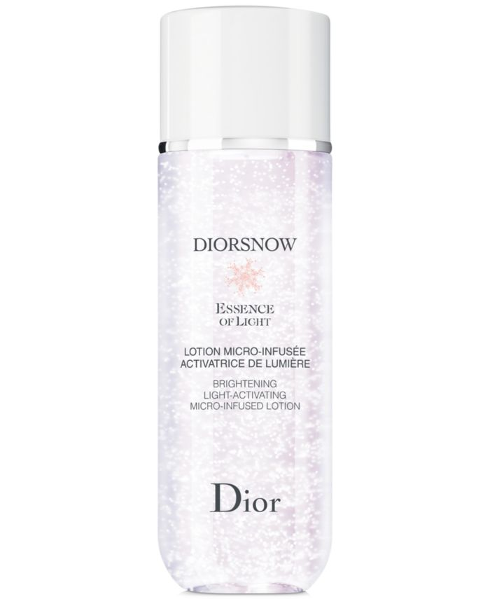 Dior Diorsnow Essence Of Light Micro-infused Lotion, 5.9 oz. & Reviews - Skin Care - Beauty - Macy's