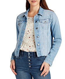 The Janis Cropped Denim Jacket