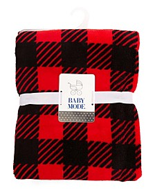 Baby Mode Plush Buffalo Plaid Baby Blanket