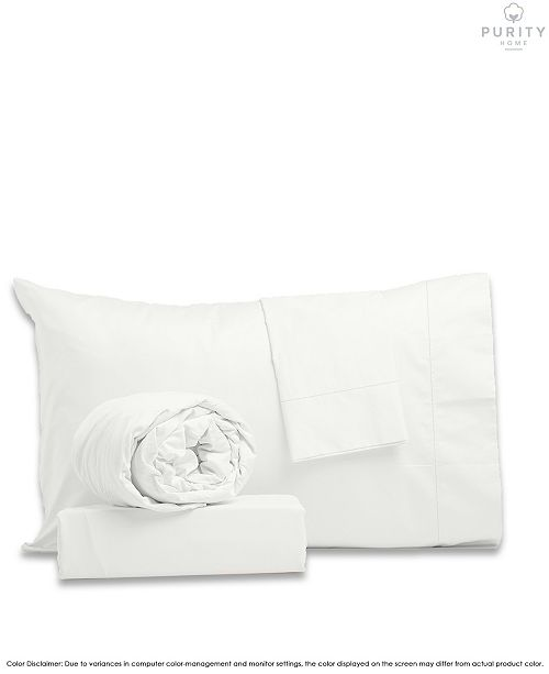 Purity Home Percale Weave Deep Pocket Cotton Sheet Set Full