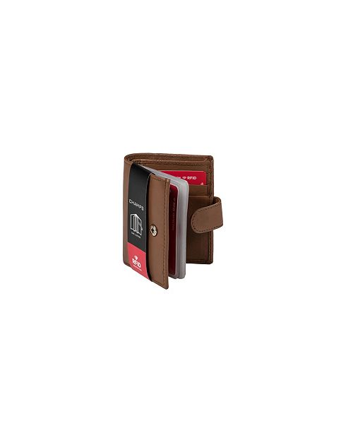 CHAMPS RFID Blocking Card Holder with Tab Closure in Gift Box
