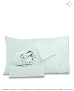 Purity Home 1000 Thread Count Cvc Cotton Sheets Set, Queen Bedding