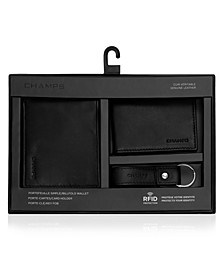 Genuine Leather 3 Piece Gift Set