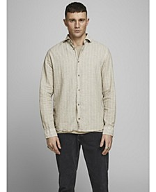 Plain Cotton Linen Blend Shirt