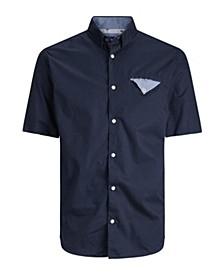 Jack and Jones Men's  Short Sleeve Printed Shirt
