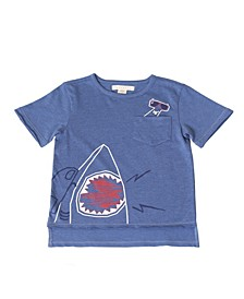 Toddler Boys Heather Hi Low Hem Shirt