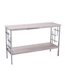 Rowena Faux Marble Console Table