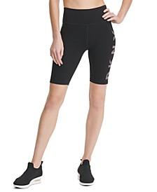 Sport Striped-Logo High-Waist Bike Shorts