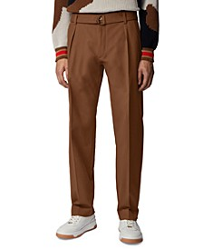 BOSS Men's Parko-Pleats Dark Brown Pants