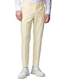 BOSS Men's Kaito1 Light Pastel Yellow Pants