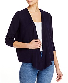 Draped Cropped Cardigan