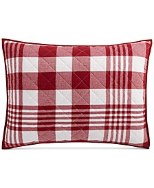 Buffalo Plaid Yarn Dye Quilted Standard Sham, Created for Macy's