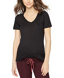 Maternity Cotton V-Neck T-Shirt