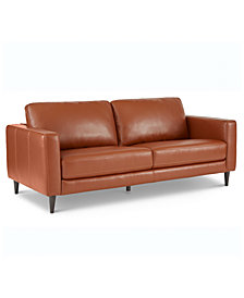 """Jennis 78"""" Leather Sofa, Created for Macy's"""