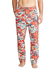 Men's Tropical-Print Pajama Pants