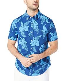 Men's Harbor Classic-Fit Tropical-Print Shirt