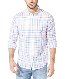 Men's Classic-Fit Stretch Plaid Shirt