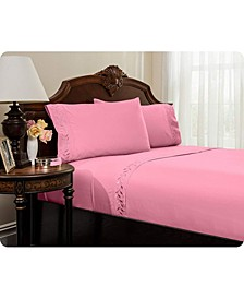 Embroidered Bed Sheets Set - Full