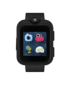 Boys Girls PlayZoom Black Smartwatch for Kids Solid Black 42mm