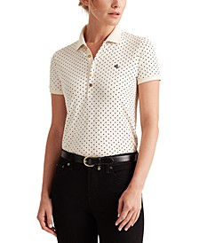 Polka-Dot Polo Shirt