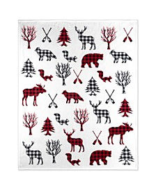 Inc Throw Flannel Printed Ribbed Wildlife