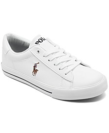 폴로 랄프로렌 보이즈 스니커즈 Polo Ralph Lauren Boys Easten Il Casual Sneakers from Finish Line,White