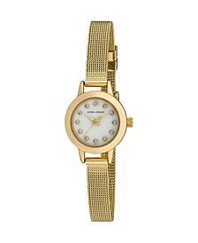 Women's Mini Case Gold Tone Alloy Bracelet Watch 22mm