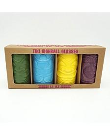 CLOSEOUT! TMD Ceramic Tiki Glasses s/4 12oz